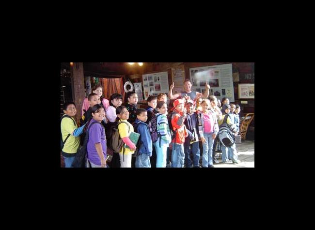 Ms. Cyphers' class visits the barge